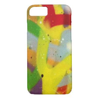 Multicolour spray paint iPhone 7 case