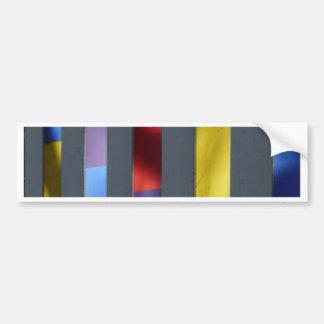Multicolour Striped Artistic Cloth Bumper Stickers