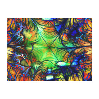 Multicoloured Abstract Fractal Canvas Print