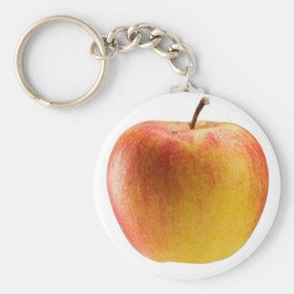 Multicoloured apple key ring