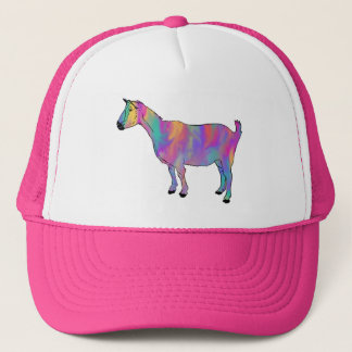 Multicoloured Art Goat Funny Animal Design Trucker Hat