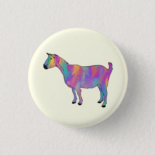 Multicoloured Art Goat Funny Animal Pink Design 3