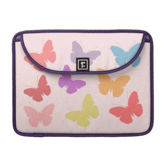 Multicoloured Butterflies Design Sleeve For MacBook Pro