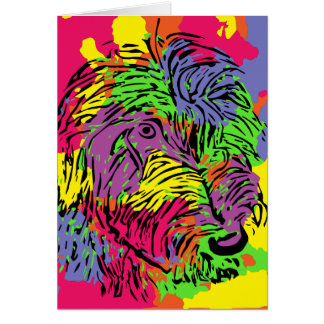 Multicoloured dog card