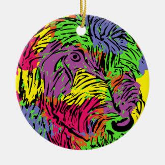 Multicoloured dog christmas ornament