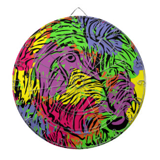 Multicoloured dog dartboard