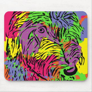 Multicoloured dog mouse mat