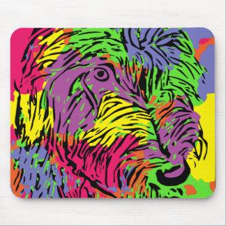 Multicoloured dog mouse pad