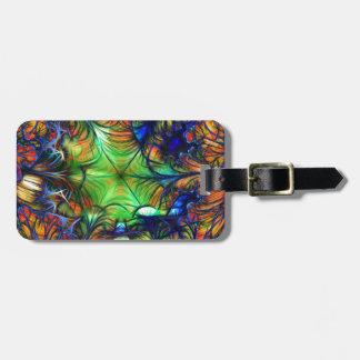 Multicoloured Fractal Bag Tag