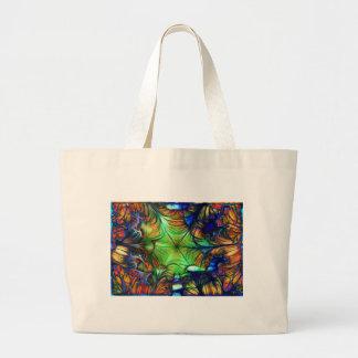 Multicoloured Fractal Large Tote Bag