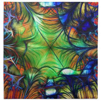 Multicoloured Fractal Napkin