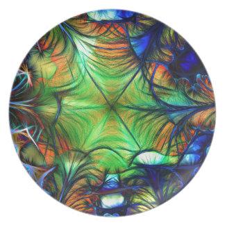 Multicoloured Fractal Plate