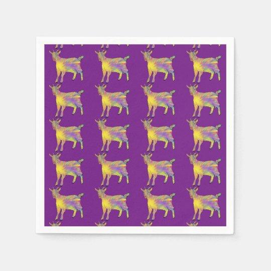 Multicoloured Funny Artsy Goat Animal Art Design Paper
