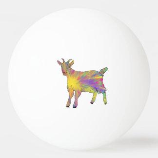 Multicoloured Funny Artsy Goat Animal Art Design Ping Pong Ball