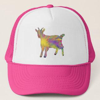 Multicoloured Funny Artsy Goat Animal Art Design Trucker Hat
