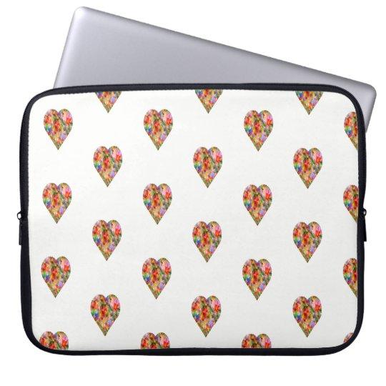 Multicoloured heart laptop sleeve