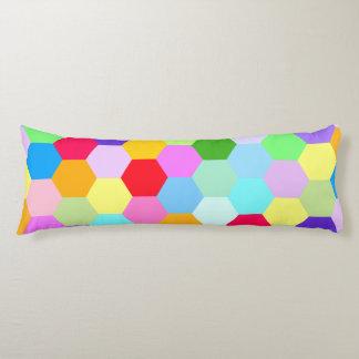 Multicoloured Hexagon Pattern Body Cushion