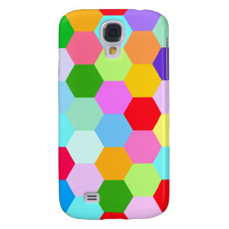 Multicoloured Hexagon Pattern Galaxy S4 Case