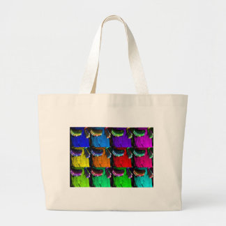 Multicoloured hips large tote bag