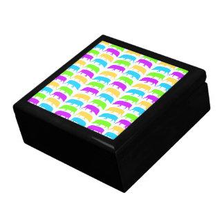 Multicoloured Hogs Green Yellow Purple Blue Gift B Gift Box