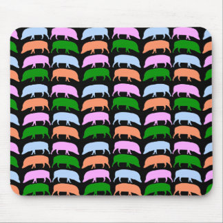 Multicoloured Hogs mousepad