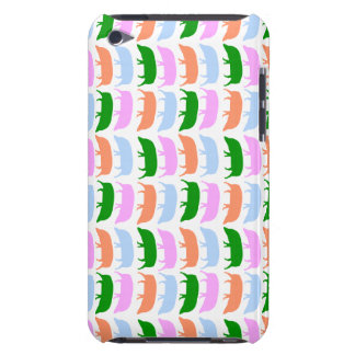 Multicoloured Hogs Pink Blue Green Orange iPod C iPod Touch Cases
