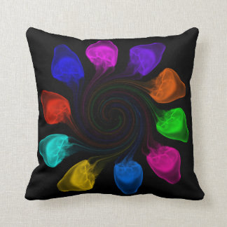 Multicoloured jellyfish cushion throw pillows