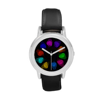 Multicoloured jellyfish watch
