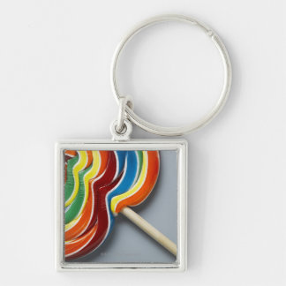 Multicoloured lollipop key ring