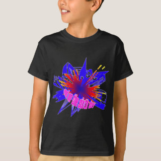 Multicoloured Manchester explosion T Shirts