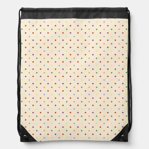 Multicoloured Polka Dots in Rainbow Colours Backpack
