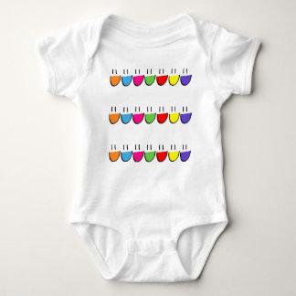 Multicoloured Smiley Face Infant Creeper (Romper)