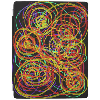 Multicoloured Swirls Indie Abstract Art Design iPad Cover