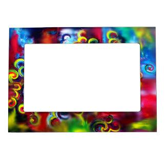 Multicoloured Swirls Magnetic Frame