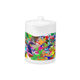 Multicoloured Unicorn Filled With Shapes