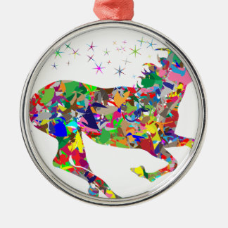Multicoloured Unicorn Filled With Shapes Christmas Ornament