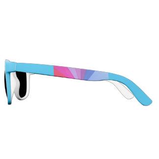 multicoloured vortex on polarized   sunglasses