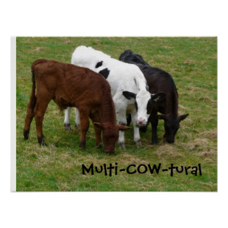 Multicultural We re Multi-COW-tural Print