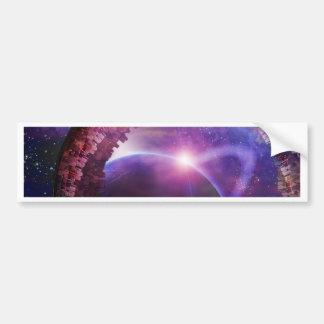Multigenerational Interstellar City Ship Bumper Sticker