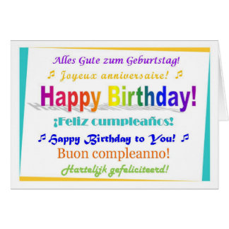 Multilingual Birthday Card
