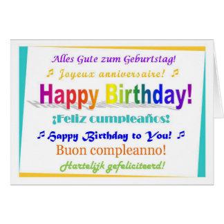 Multilingual Birthday Greeting Card