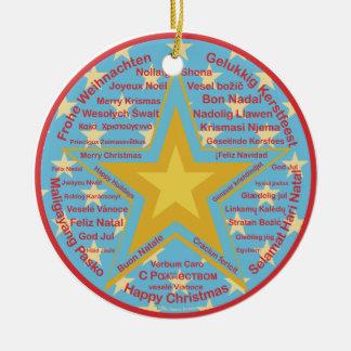 Multilingual Christmas Christmas Ornament