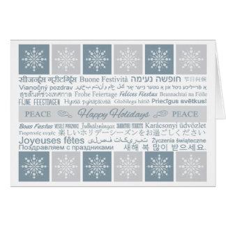 """Multilingual """"Happy Holidays"""" Custom greeting card"""
