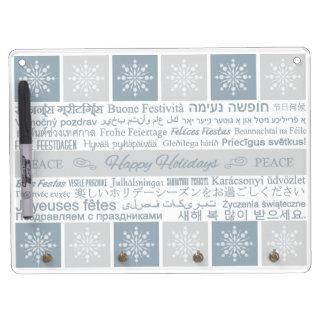 Multilingual Happy Holidays message board