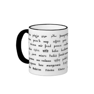 Multilingual Peace Ringer Mug