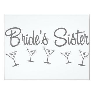 MultiMartini-BridesSister-grey 11 Cm X 14 Cm Invitation Card