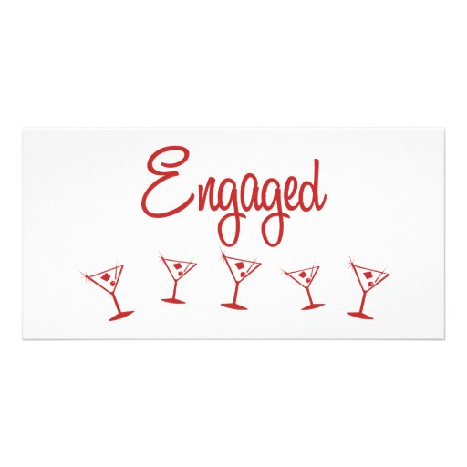 MultiMartini-Engaged-Red Picture Card