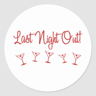 MultiMartini-LastNightOut-Red Round Sticker