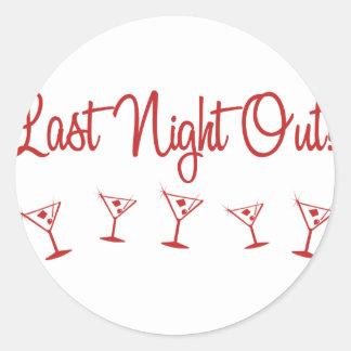 MultiMartini-LastNightOut-Red Classic Round Sticker