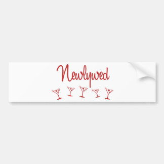 MultiMartini-Newlywed-Red Bumper Sticker